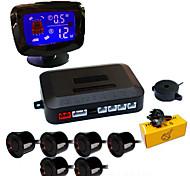 economico -a65k sistema radar di backup inverso del veicolo per auto con 6 sensori di parcheggio rilevamento della distanza display lcd della distanza suono di avvertimento ronzio