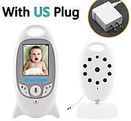 economico -video wireless baby monitor telecamera di sicurezza a colori a 2 vie visione notturna a infrarossi con monitoraggio della temperatura e 8 ninna nanna