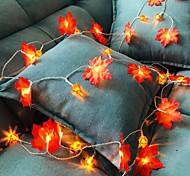 abordables -3M Guirlandes Lumineuses 20 LED 1 pc Blanc Chaud Jour de Thanksgiving Noël Soirée Décorative Vacances Piles AA alimentées