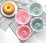 abordables -Moule à gâteau et moule en mousseline de soie à motif en spirale en silicone de 6 pouces 1 pc