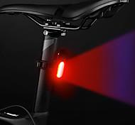 abordables -LED Eclairage de Velo Eclairage de Vélo Arrière LED Vélo Cyclisme Imperméable Nouveau design Lithium-ion polymère 120 lm Batterie rechargeable Couleur double source lumineuse Camping / Randonnée