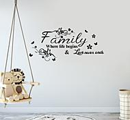 abordables -lettre stickers muraux stickers muraux décoratifs, pvc décoration de la maison sticker mural décoration murale / amovible 60 * 30 cm