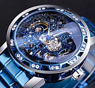 economico -WINNER Per uomo orologio meccanico Analogico Carica automatica Stile vintage Casuale Orologi con incisioni / Due anni / Acciaio inossidabile