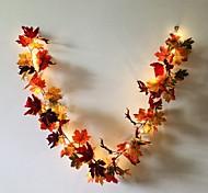 abordables -1.7m 20leds automne feuille d'érable rotin LED guirlande lumineuse 5pcs 2pcs fête de vacances jardin Thanksgiving récolte festival lumière décorative sans batterie