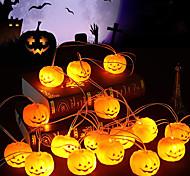 economico -luci della stringa di halloween luci della stringa a led a forma di zucca 1.5m 4.9ft 10 led funzionamento a batteria carnevale di halloween decorazione della festa in giardino luce