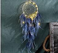 abordables -LED plume veilleuse à la main plume dreamcatcher vent carillon ornements vacances cadeau de noël décoration cadeau d'anniversaire de la Saint-Valentin