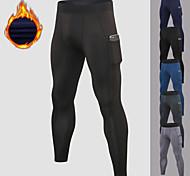 economico -YUERLIAN Per uomo Pantaloni Pantaloni a compressione Sportivo Livello Base Pantaloni con tasca per telefono Vello Elastene Inverno Fitness Allenamento in palestra Esibizione Corsa Addestramento