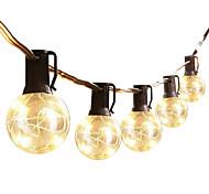 abordables -guirlandes led extérieures imperméables 8.4m 27.5ft ampoules g40 25 guirlandes de patio leds guirlande lumineuse ce standard chaud intérieur extérieur guirlande lumineuse pour jardin bistro café