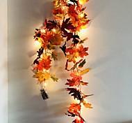 economico -1.7 m 20 led autunno foglia d'acero rattan luci stringa led 5 pz 2 pz festa di festa giardino ringraziamento festa del raccolto luce decorativa senza batteria