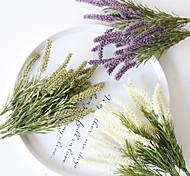 abordables -Artificielle malt herbe fleurs table affichage mariage fête simulation fleurs décor bouquet de mariée 1 pièce