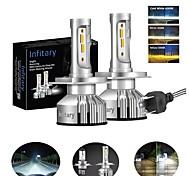 abordables -INFITARY 2pcs H7 / H3 / H11 Automatique Ampoules électriques 48 W 8000 lm 4 LED Lampe Frontale Pour Volkswagen / Toyota / Honda Mazda6 / Odyssey / Civic Toutes les Années