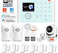 abordables -CS118 CIGNA Autres / Systèmes d'alarme domestique / Hôte d'alarme iOS / Android GSM + WIFI Plate-forme Clavier sans fil / Mobile / Code d'apprentissage GSM + WIFI 433 Hz pour Intérieur