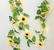 abordables -10m 100leds tournesol lierre vigne fleurs artificielles avec feuilles 33ft guirlande suspendue clôtures de jardin maison mariage vacances de noël décoration