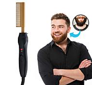abordables -lisseur à peigne chaud - peigne à lisser électrique pour cheveux et perruques afro-américains - lisseur à technologie pour cheveux mouillés et secs - peigne chauffant rapide pour hommes longue barbe