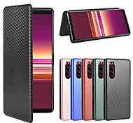 economico -telefono Custodia Per Sony Integrale Porta carte di credito Sony Xperia 10 Sony Xperia 5 Sony Xperia 1 II Xperia XZ3 Xperia XZ4 / Xperia 1 Xperia 10 Plus Xperia 10 II Xperia L4 A portafoglio