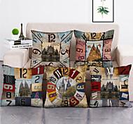abordables -1 lot de 5 pièces housses de coussin décoratif moderne taie d'oreiller décoratif taie de coussin pour chambre chambre canapé chaise voiture, 18 * 18 pouces 45 * 45 cm