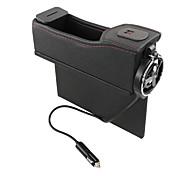 economico -6910 scatola di immagazzinaggio del veicolo usb con ricarica scatola di immagazzinaggio del display digitale multi-funzione portabicchieri di acqua a fessura sedile del conducente in pelle