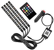 economico -e10 caricabatteria da auto rgb per auto led strip light interior styling lampade decorative per atmosfera strip led con lampada ritmica a comando vocale