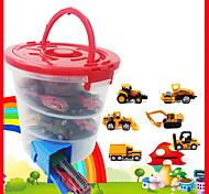 abordables -Jouets de camion de construction Petite Voiture Véhicules à Friction Arrière Mini Voiture de Course Grue Tombereau Simulation Résistant aux chutes Alliage Mini jouets de véhicules de voiture pour