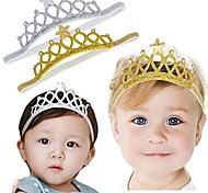 abordables -bébé fille super élastique bandeau enfant en bas âge bande de cheveux doux bandeau couronne enfants accessoires de cheveux (or / ruban)