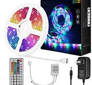 abordables -Zdm 10 mètres de bandes lumineuses à LED flexibles imperméables 180x5050 leds rgb smd avec contrôleur de clé IR 44 ou kit adaptateur 12v