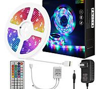 economico -zdm 10 metri strisce luminose flessibili a led impermeabili 180x5050 led smd rgb con controller a chiave ir 44 o kit adattatore 12v