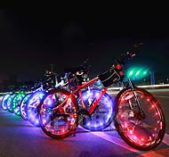 economico -LED Luci bici Luci per tappo della valvola luci della rotella - Ciclismo da montagna Bicicletta Ciclismo Impermeabile Portatile Colore variabile Avvertenze Batterie 400 lm Batteria Ciclismo - Acacia
