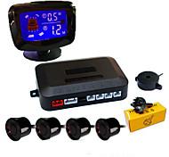 economico -a45 sistema radar di backup inverso del veicolo per auto con 4 sensori di parcheggio rilevamento della distanza display lcd della distanza suono di avvertimento ronzio