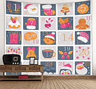abordables -noël weihnachten père noël tapisserie murale art décor couverture rideau pique-nique nappe suspendu maison chambre salon dortoir décoration élan arbre de noël score de jeu cadeau polyester