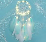 abordables -dreamcatcher led plume veilleuse à la main vent carillon ornements vacances noël événements de mariage décoration saint valentin anniversaire cadeau romantique