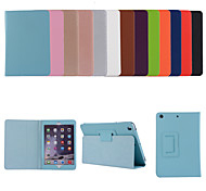 abordables -téléphone Coque Pour Apple Coque Intégrale iPad Air iPad Air 2 IPad Air3 10.5 '2019 Avec Support Clapet Couleur Pleine faux cuir TPU