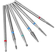 economico -6pcs nail art diamante rettifica testa set speciale strumento di lucidatura strumento pennello di lucidatura
