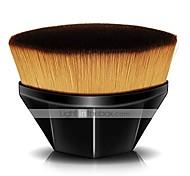 abordables -Pinceau de fond de teint pour maquillage liquide, pinceau plat kabuki hexagonal pour le visage pour mélanger des produits cosmétiques liquides, crèmes ou en poudre sans défaut avec étui de protection