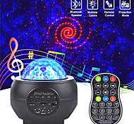 abordables -Projecteur de ciel étoilé LED haut-parleurs USB veilleuse lampe de projection de ciel étoilé coloré romantique avec lampe de fête télécommandée