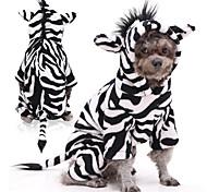 economico -Prodotti per cani Prodotti per gatti Costumi Zebra Cosplay Inverno Abbigliamento per cani Vestiti del cucciolo Abiti per cani Nero / Bianco Costume per ragazza e ragazzo cane Flanella XS S M L XL XXL