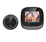 economico -Escam c06 campanello per video ad alta definizione da 2,8 pollici con batteria ricaricabile integrata da 600mAh con memoria ciclica per visione notturna