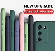 economico -telefono Custodia Per Samsung Galaxy Per retro Silicone Custodia in silicone S20 Plus S20 Ultra S20 Resistente agli urti Tinta unita Silicone Gel di silice