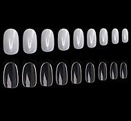abordables -1200pcs ongles en acrylique ronds faux ongles conseils, 10 tailles, couverture complète court ovale faux ongles artificiels nail art manucure ongles pour salon de manucure bricolage pratique de