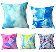 abordables -lot de 5 carré 45x45cm nouvelle technologie tie-dye housse de coussin taie d'oreiller souple polyester taie d'oreiller en peluche jeter taille décoration de la maison