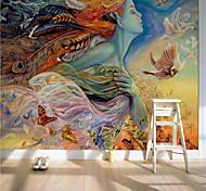 economico -adesivo richiesto carta da parati personalizzata murale autoadesiva carta da parati fiore fata immagine adatta per camera da letto soggiorno caffetteria ristorante hotel decorazione murale art
