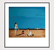 economico -stampa artistica con cornice set con cornice 1 -morandi colore astratto spiaggia scenario paesaggio arte ps foto wall art