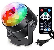 abordables -7 couleurs DJ stroboscopique LED boule disco 3W contrôle du son projecteur laser RGB scène effet de lumière lumière musique fête de noël danse décor