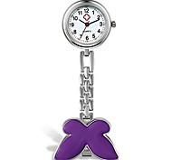 economico -donne ragazze medico infermiere orologio farfalla fob clip su appeso orologio infermiera (viola)