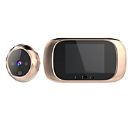 abordables -escam c03 sonnette vidéo à écran haute définition de 2,8 pouces avec stockage cyclique de vision nocturne