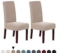 abordables -Housse de chaise Couleur Pleine Velventine Polyester Literie