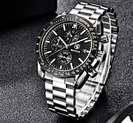 abordables -montre-bracelet chronographe Benyar pour homme   design classique   mouvement à quartz 30m étanche   montre à quartz analogique   Acier inoxydable de 22 mm   résistant aux rayures   litbwat