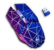 abordables -Free wolf x11 souris de jeu optique sans fil 2.4g souris rechargeable multi-couleurs respiration rétro-éclairé 1600 dpi 3 niveaux de dpi réglables 6 touches pcs