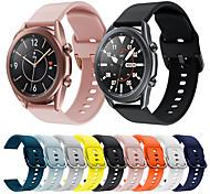 economico -Cinturino intelligente per Samsung Galaxy 1 pcs Cinturino sportivo Chiusura classica Silicone Sostituzione Custodia con cinturino a strappo per Galaxy Watch 3 45mm Galaxy Watch 3 41 mm 20 millimetri