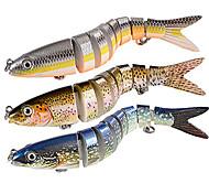 abordables -1 pcs leurres souples Appâts pour la pêche Poissons nageur / Leurre dur Affaissé Bass Truite Brochet Pêche générale