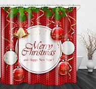 economico -lampadario natalizio inglese stampa digitale tenda da doccia tende da doccia& ganci moderno poliestere nuovo design